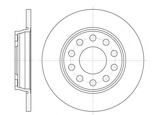 Тормозной диск REMSA 6731.00