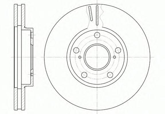 Тормозной диск REMSA 6842.10