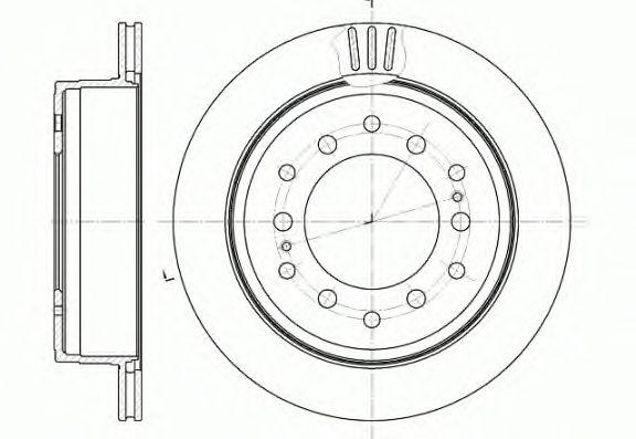 Тормозной диск REMSA 6956.10