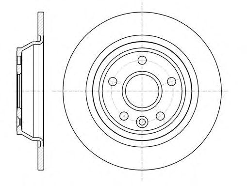 Тормозной диск REMSA 61167.00