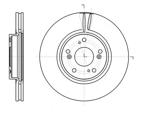 Тормозной диск REMSA 61218.10