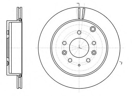 Тормозной диск REMSA 61237.10