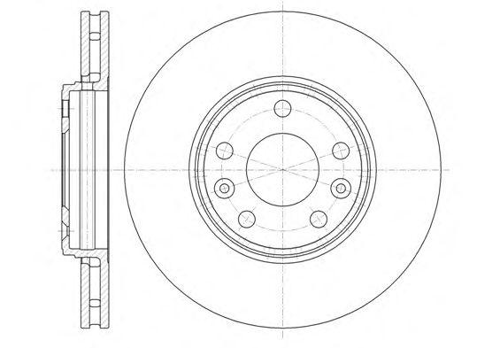 Тормозной диск REMSA 61344.10