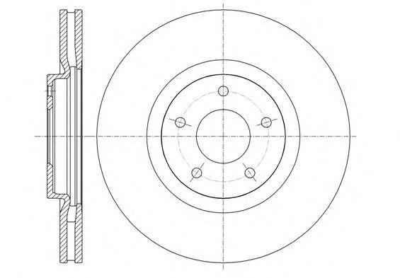 Тормозной диск REMSA 61349.10