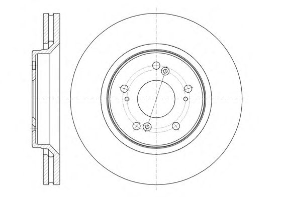 Тормозной диск REMSA 61358.10