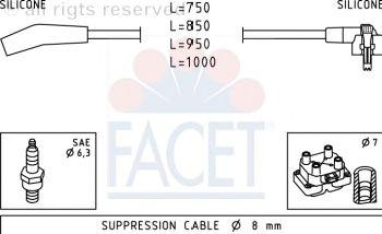 Комплект высоковольтных проводов FACET 4.9639