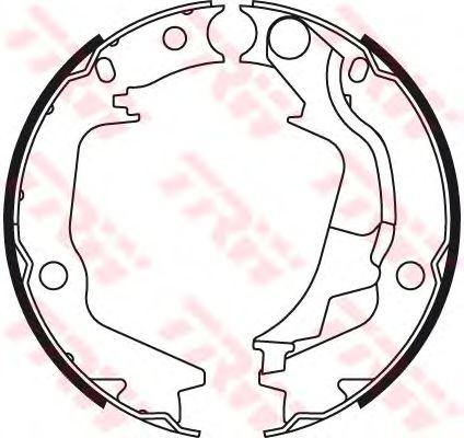 Тормозные колодки ручника TRW GS8782