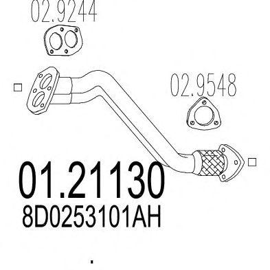 Труба выхлопного газа MTS 01.21130