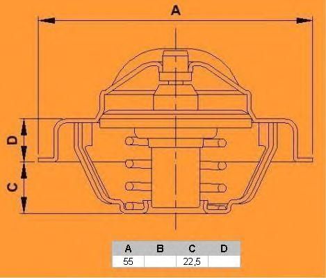 Термостат CALORSTAT by Vernet TH4885.83J