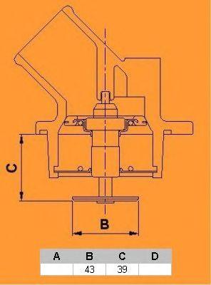 Термостат CALORSTAT by Vernet TH6493.105J