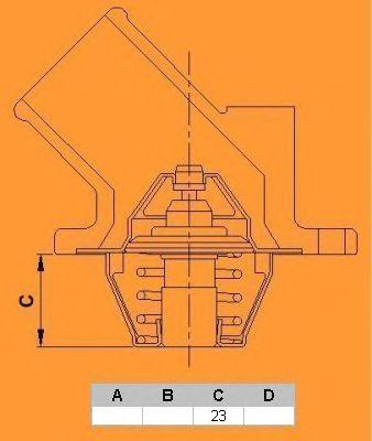 Термостат CALORSTAT by Vernet TH6541.82J