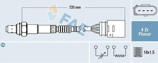 Лямбда-зонд FAE 77204