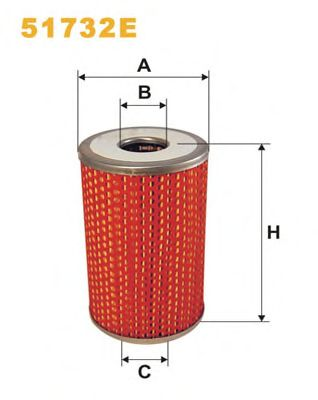 Масляный фильтр WIX FILTERS 51732E