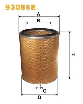 Воздушный фильтр WIX FILTERS 93086E