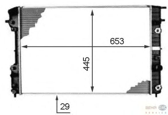 Радиатор, охлаждение двигателя BEHR HELLA SERVICE 8MK 376 718-671