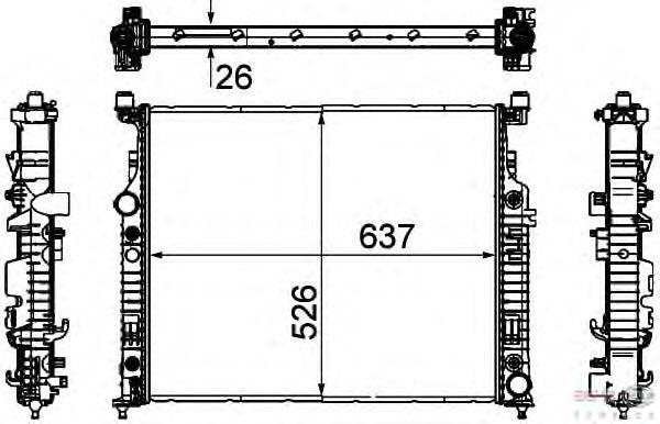 Радиатор, охлаждение двигателя BEHR HELLA SERVICE 8MK 376 781-571