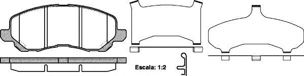 Тормозные колодки REMSA 0804.31