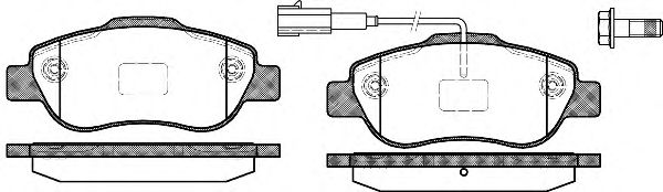 Тормозные колодки REMSA 1100.11