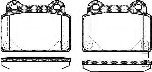 Тормозные колодки REMSA 1364.02
