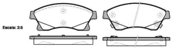 Тормозные колодки REMSA 1431.12