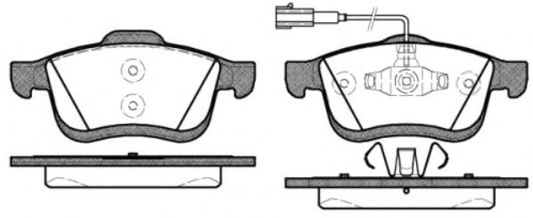Тормозные колодки REMSA 1183.22