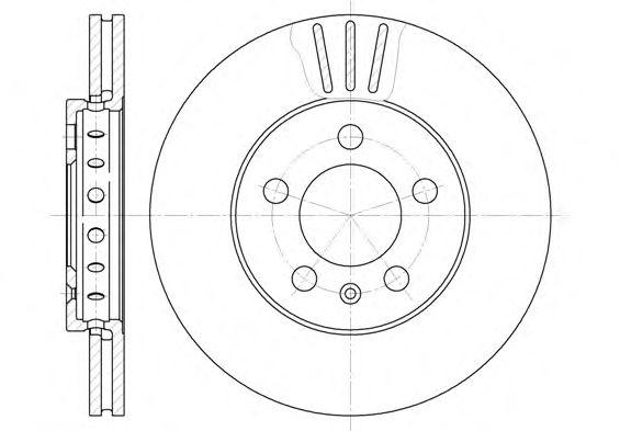 Тормозной диск REMSA 6545.10
