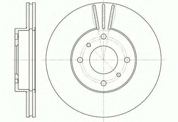 Тормозной диск REMSA 6610.10