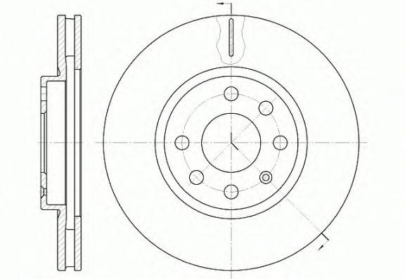 Тормозной диск REMSA 6611.10
