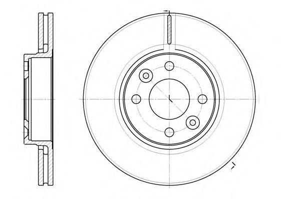 Тормозной диск REMSA 6683.10