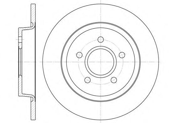 Тормозной диск REMSA 6712.00