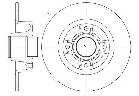 Тормозной диск REMSA 6750.00