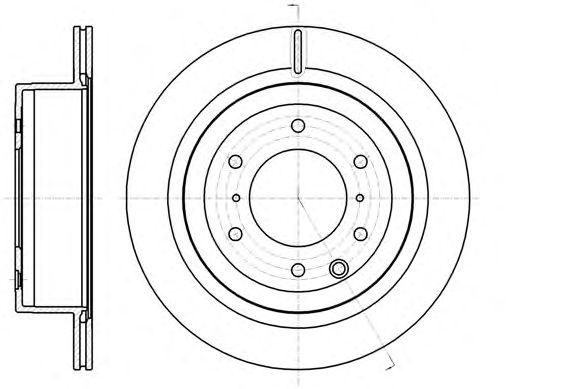 Тормозной диск REMSA 61099.10