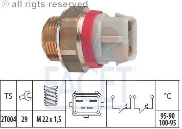 Датчик включения вентилятора FACET 7.5682