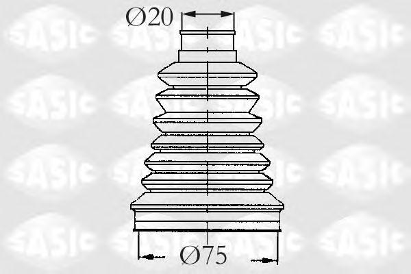 Комплект пыльника ШРУСа SASIC 2933083
