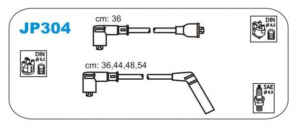 Комплект высоковольтных проводов JANMOR JP304