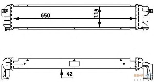 Радиатор, охлаждение двигателя BEHR HELLA SERVICE 8MK 376 717-421