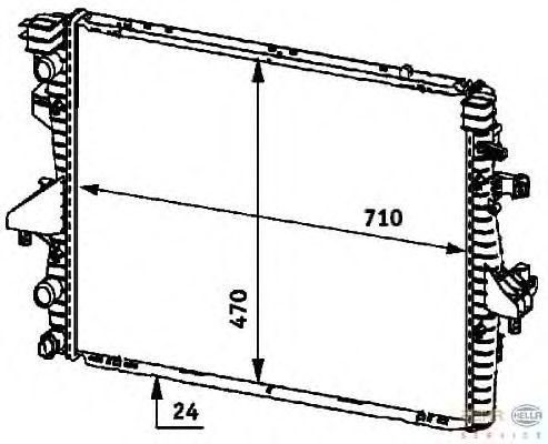 Радиатор, охлаждение двигателя BEHR HELLA SERVICE 8MK 376 719-181