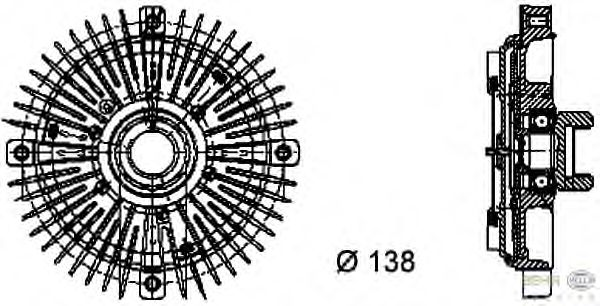 Вязкостная муфта вентилятора охлаждения BEHR HELLA SERVICE 8MV 376 732-021