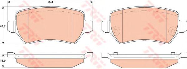 Тормозные колодки TRW GDB1831