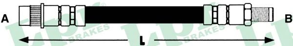 Тормозной шланг LPR 6T46017