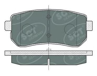Тормозные колодки SCT Germany SP 380