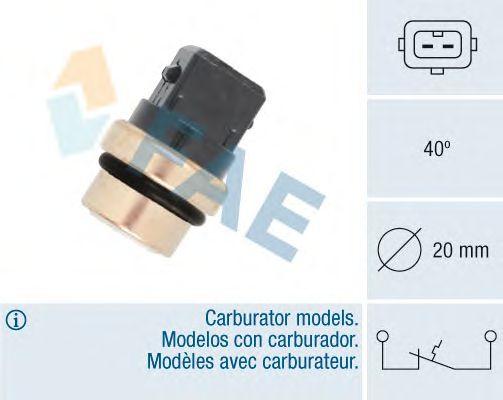Термовыключатель FAE 35620 (предпусковой подогрев впускной трубы, сигнальная лампа охлаждающей жидкости)