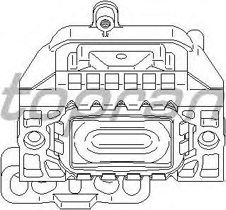 Подушка двигателя TOPRAN 110 757