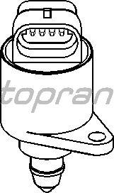 Поворотная заслонка, подвод воздуха TOPRAN 721 482