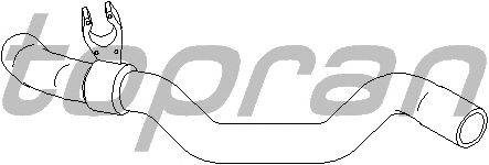 Шланг радиатора TOPRAN 700 510