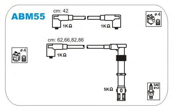 Комплект высоковольтных проводов JANMOR ABM55