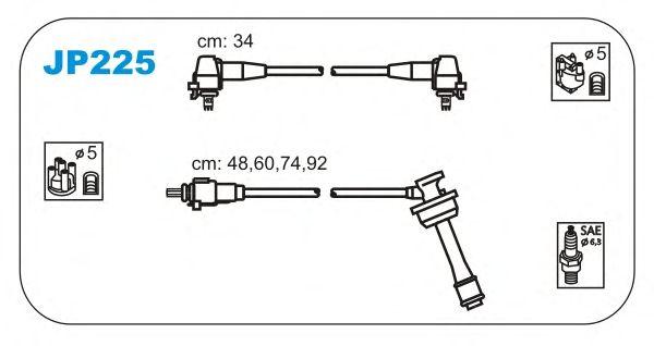 Комплект высоковольтных проводов JANMOR JP225