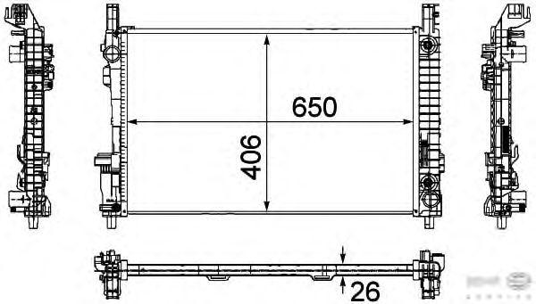 Радиатор, охлаждение двигателя BEHR HELLA SERVICE 8MK 376 730-561