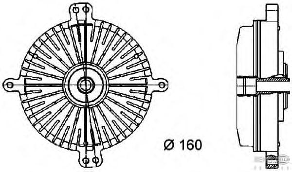 Вязкостная муфта вентилятора охлаждения BEHR HELLA SERVICE 8MV 376 733-061