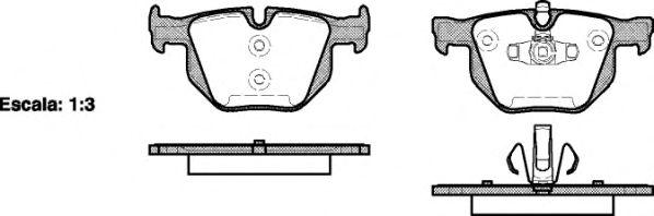 Тормозные колодки REMSA 0381.70